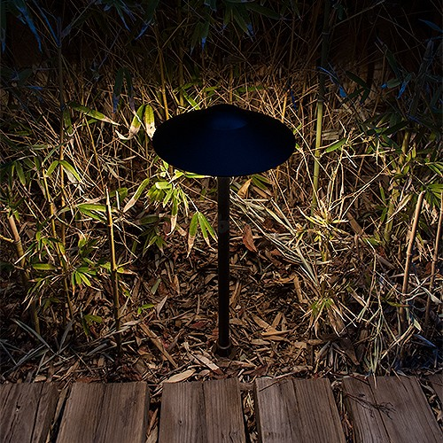 Outdoor Led Landscape Lighting Black Hat Path Light Warm White
