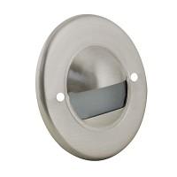 Outdoor LED landscape lighting round stainless steel half brick step light 7121 series, cool white, low voltage 12volt